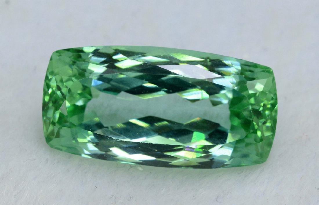 24.60 Carat Flawless Green Kunzite Loose Gemstone