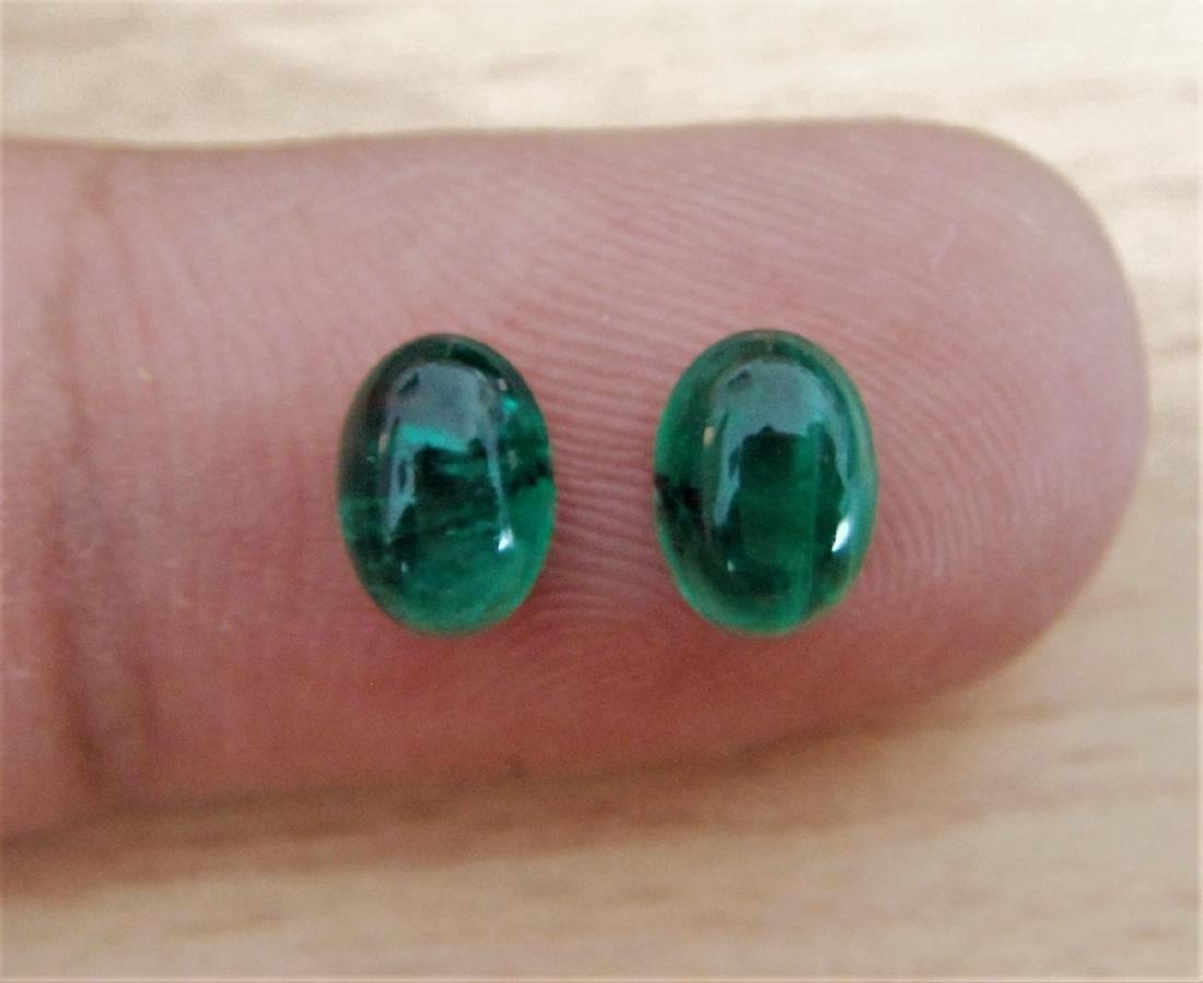 Emerald Pair - 1.55 Carat Loose - 3