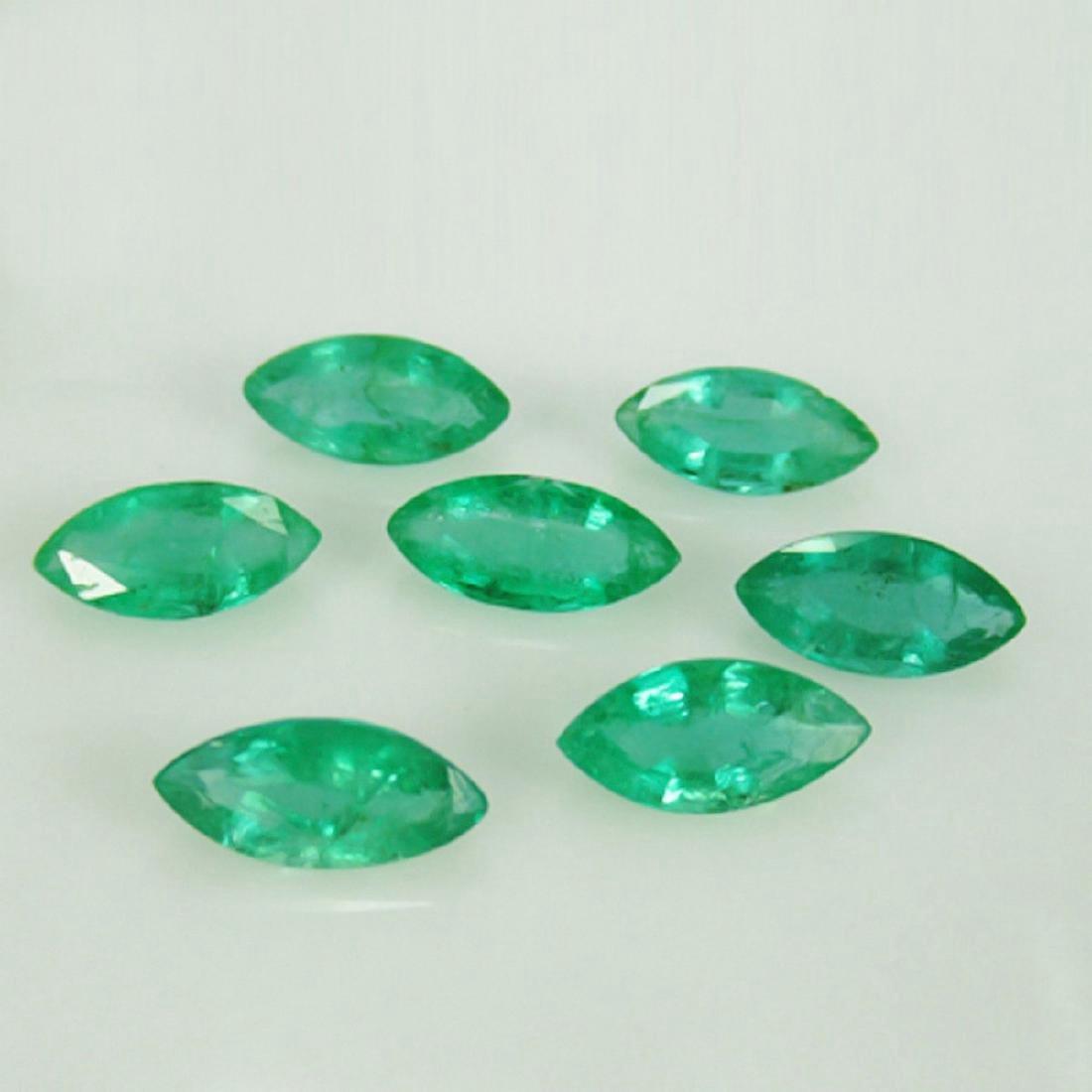 6.55 Carat 7 Loose Zambian Emerald Marquise Set
