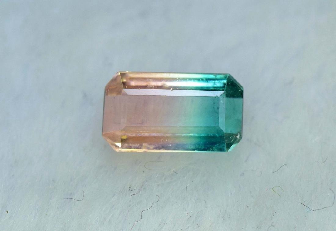 1.75 Carat Natural Bi Color Tourmaline Loose gemstone