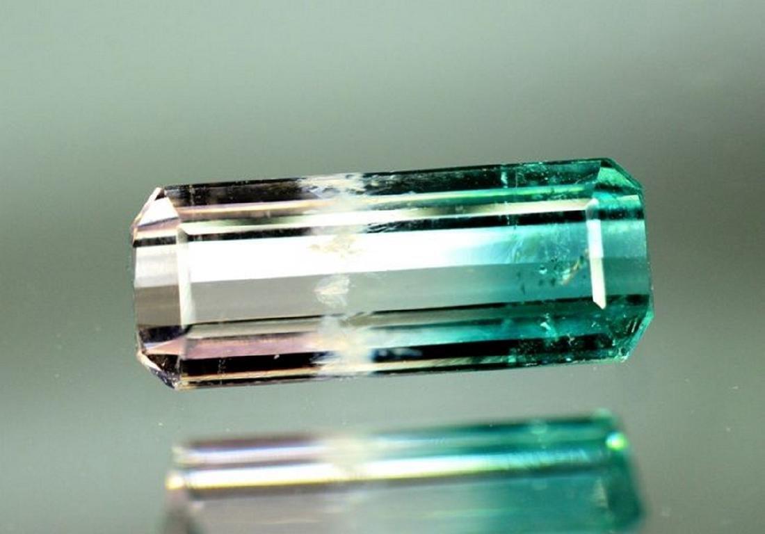 2.95 Carat Natural Bi Color Tourmaline Loose gemstone - 2