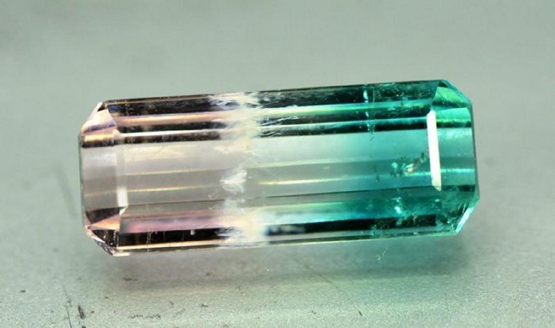 2.95 Carat Natural Bi Color Tourmaline Loose gemstone - 3