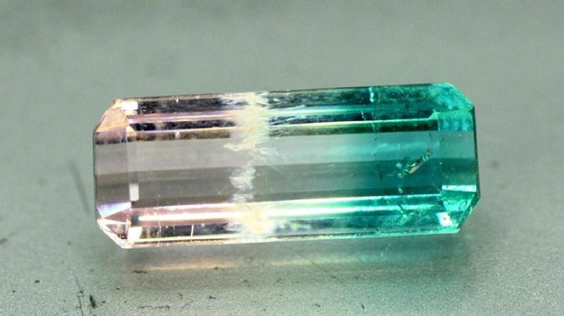 2.95 Carat Natural Bi Color Tourmaline Loose gemstone - 5