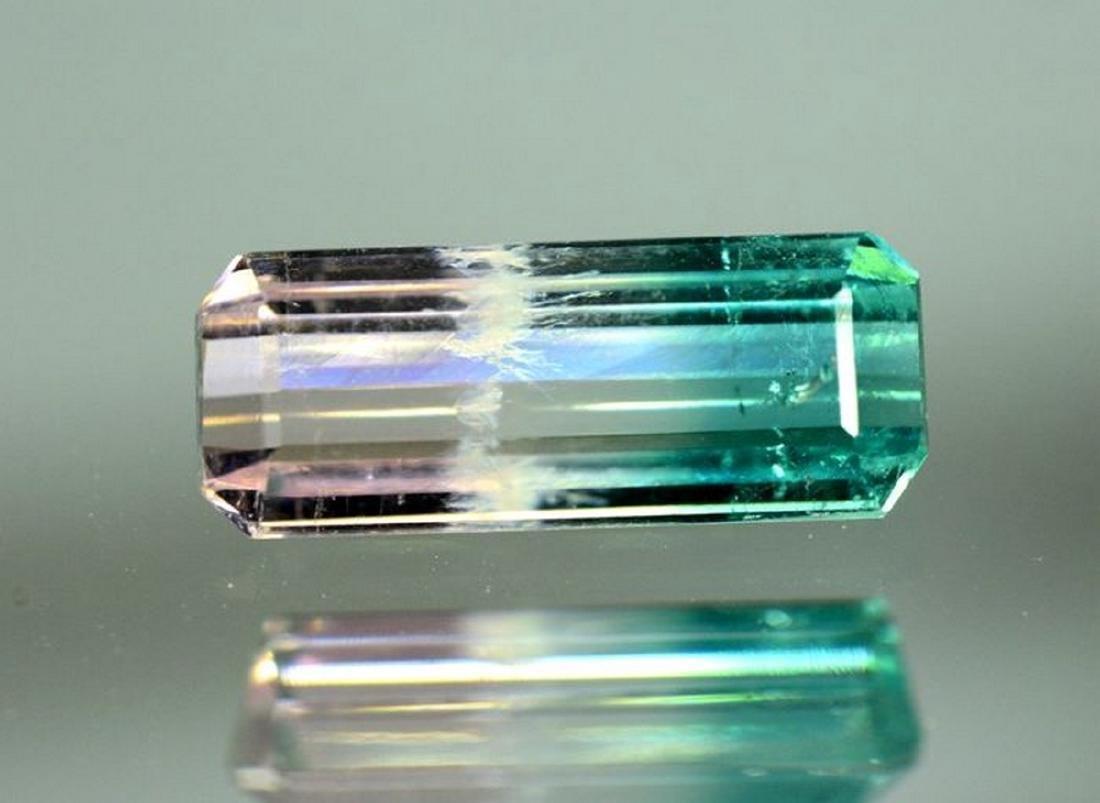 2.95 Carat Natural Bi Color Tourmaline Loose gemstone - 7