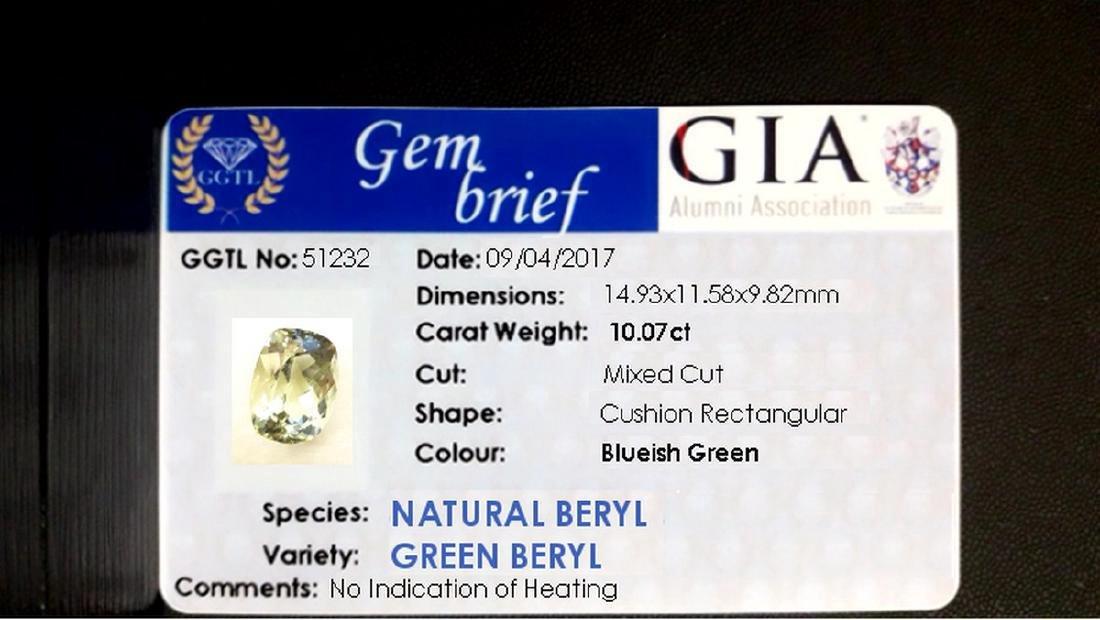 10.07ct GIA Cert. | Seafoam-Green Aquamarine | VVS