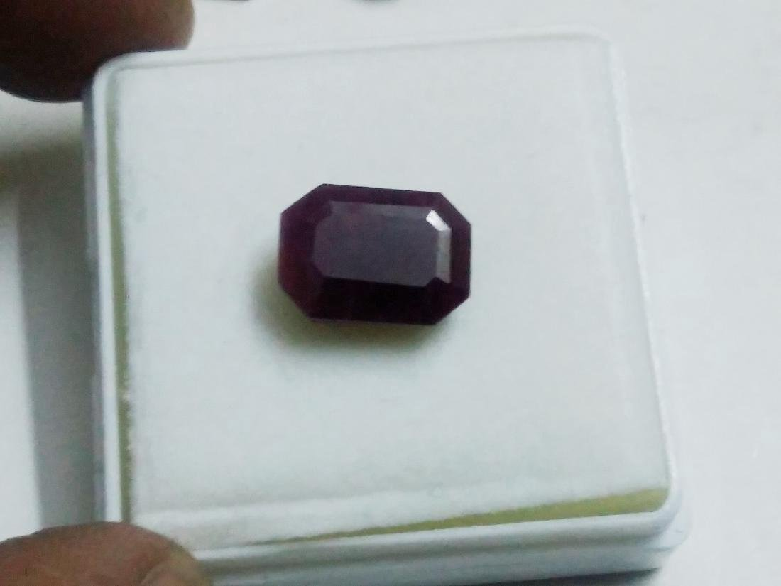 8.38 Carat Loose Octagon Red Natural Ruby