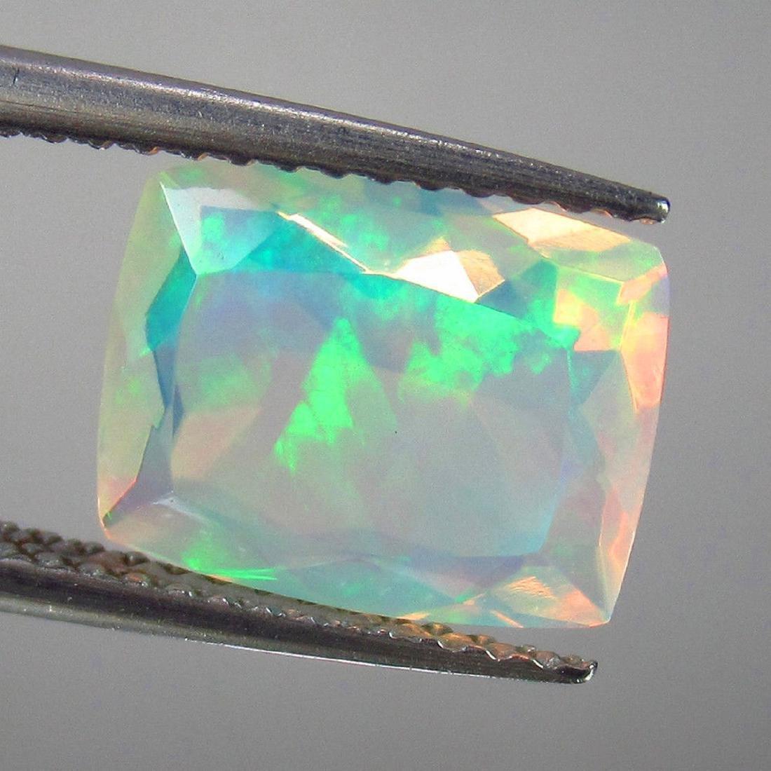 2.05 Carat Natural Loose Ethiopian Faceted Welo Opal