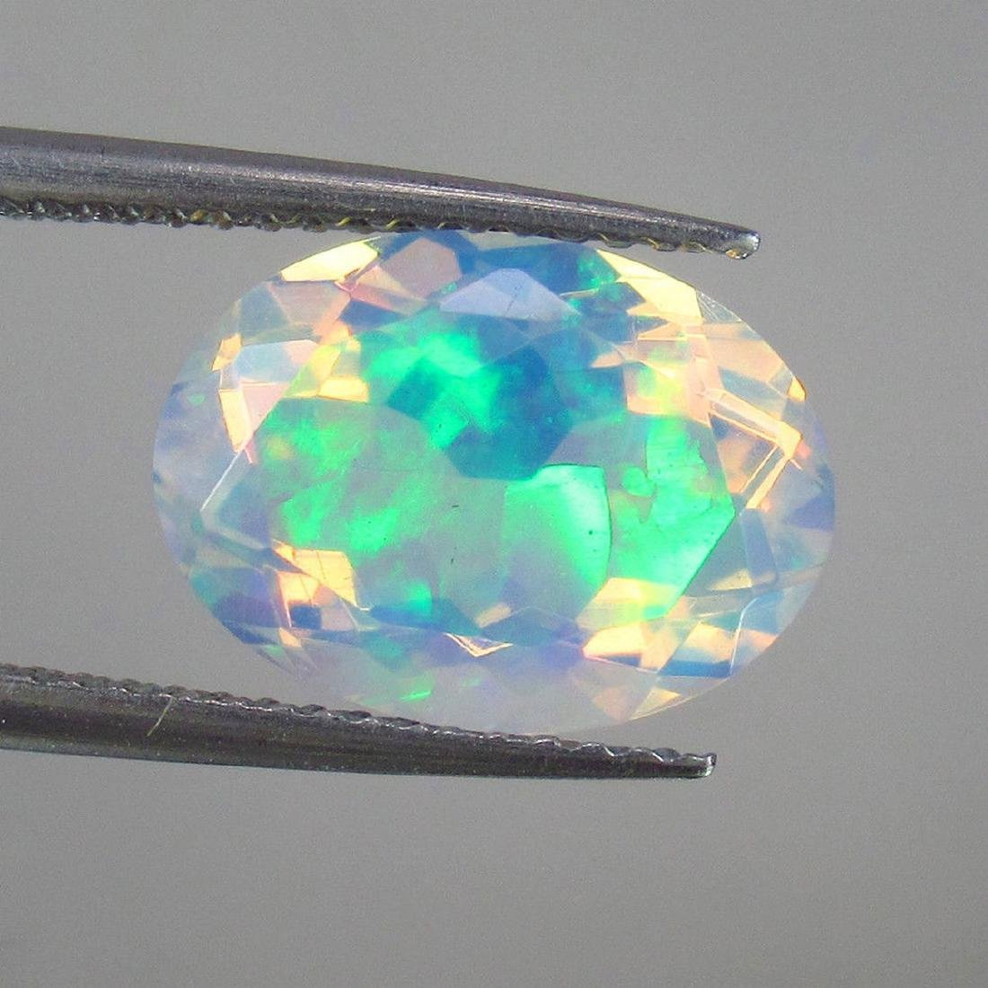 2.93 Carat Loose Ethiopian Welo White Faceted Opal