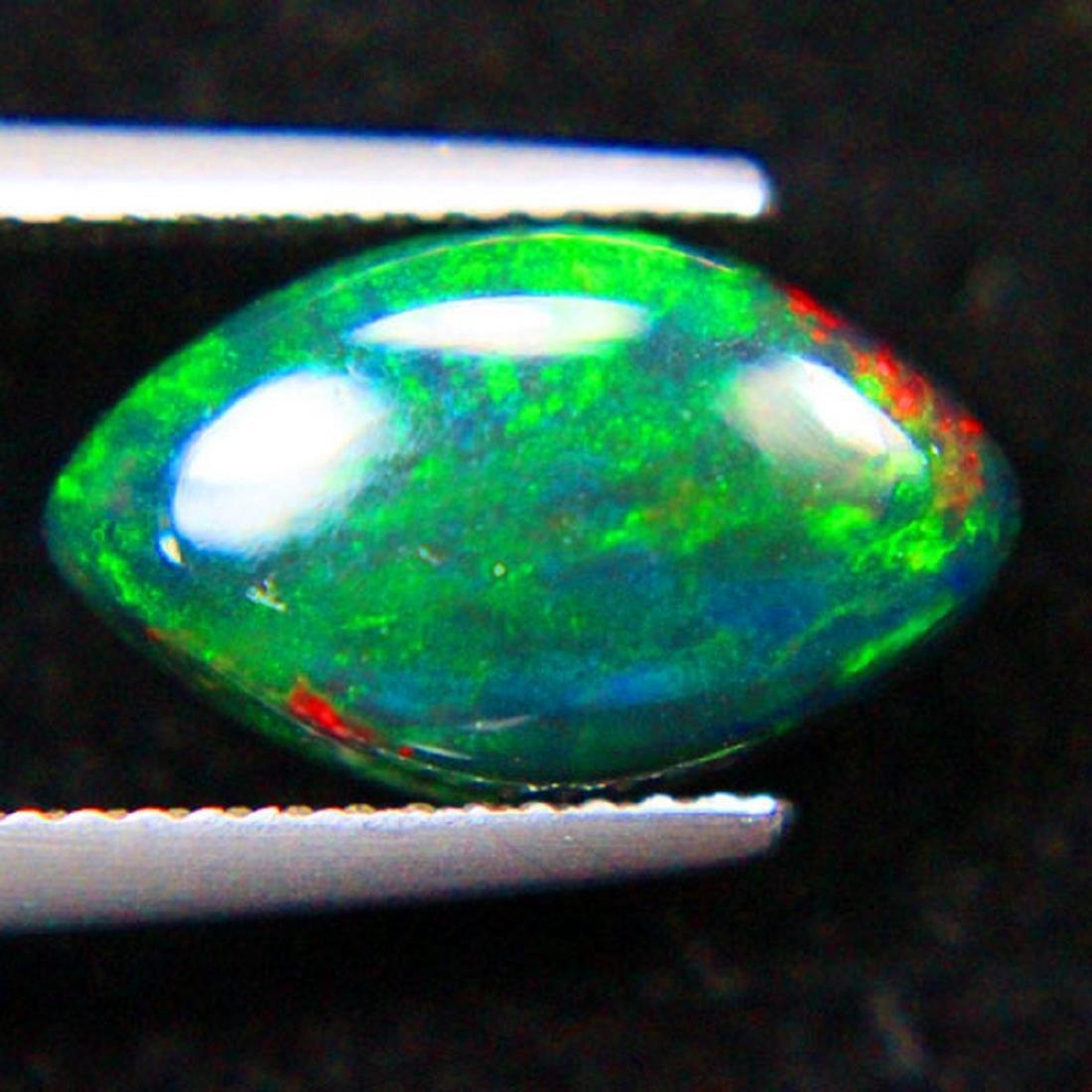 2.80 Carat Loose Ethiopian Natural Black Opal Marquise