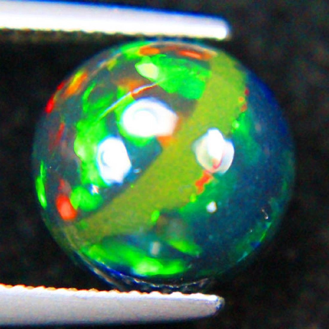 3.15 Carat Loose Natural Ethiopian Black Opal Round