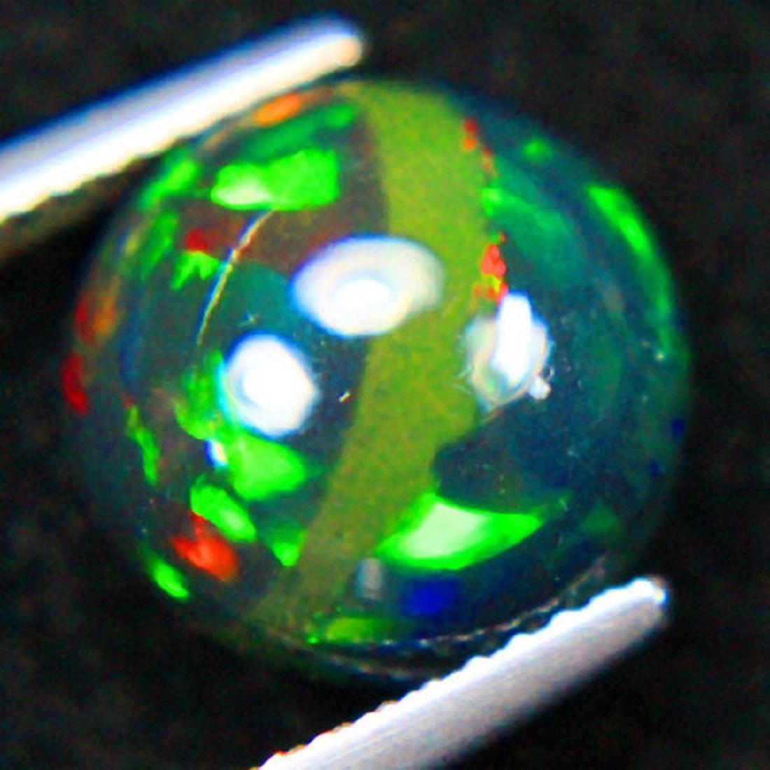 3.15 Carat Loose Natural Ethiopian Black Opal Round - 2