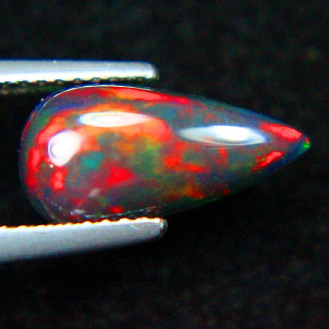 1.95 Carat Loose Ethiopian Natural Black Opal Pear
