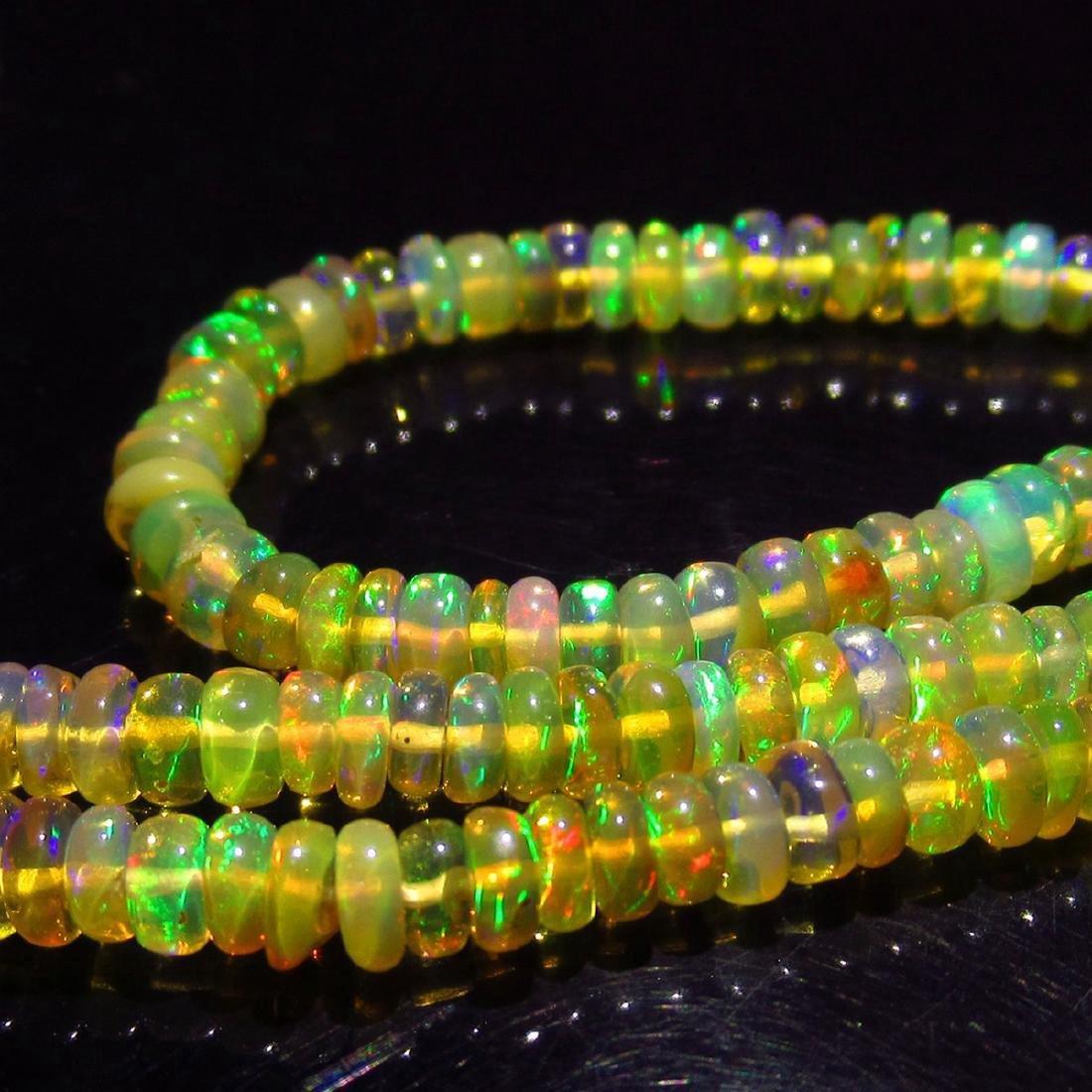 33.00 Carat Natural 230 Loose Opal Beads Necklace - 3