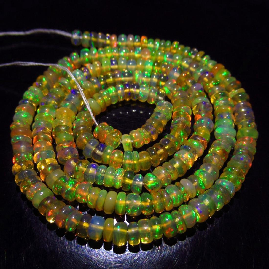 33.00 Carat Natural 230 Loose Opal Beads Necklace - 4