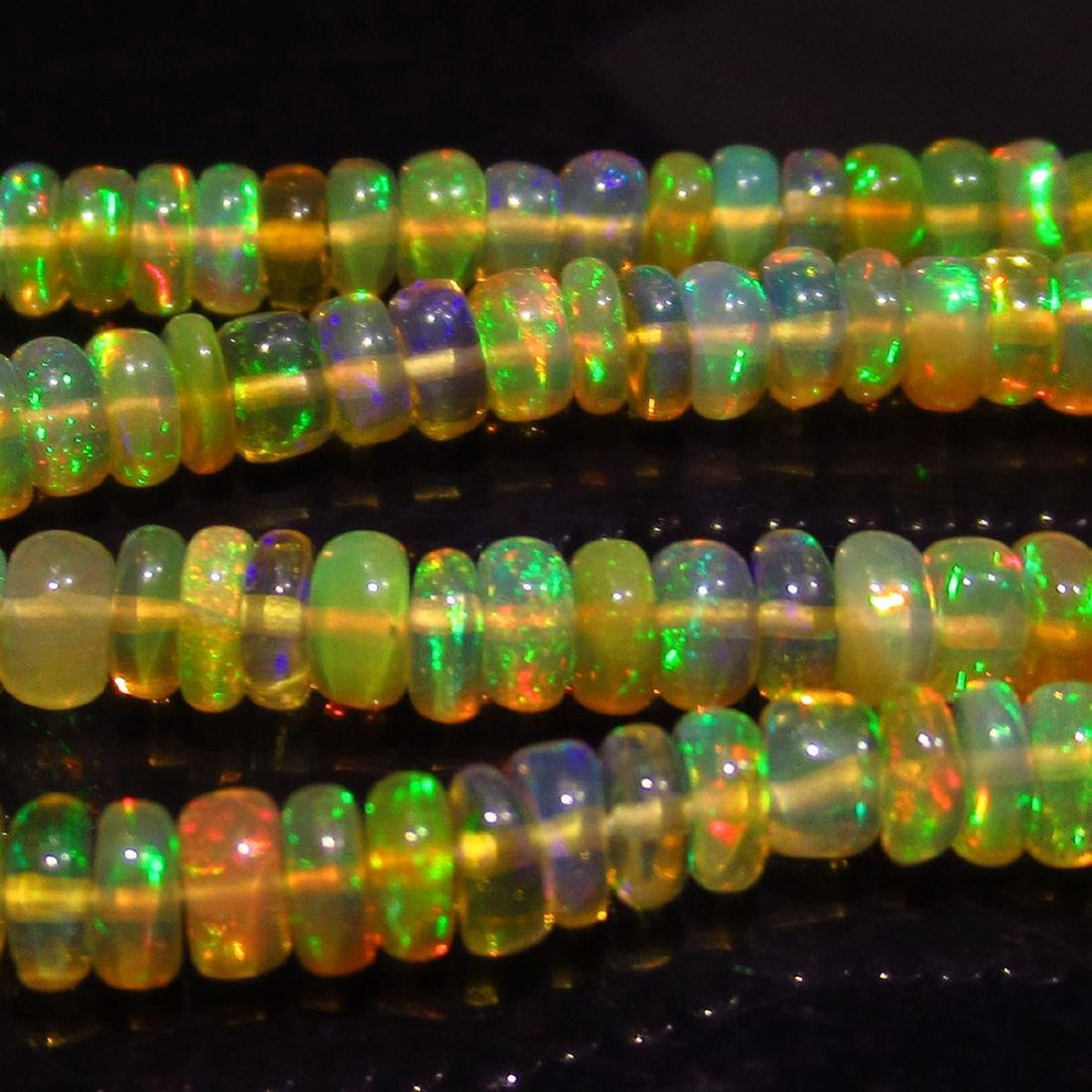40.22 Carat 222 Drilled loose Ethiopian Opal Beads - 4