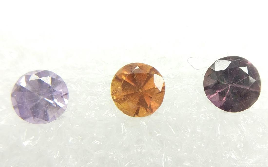 Triple of 3 Sapphire Mixed color 1.15 ct