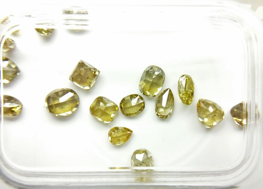 17 Mixed Shapes diamonds total 2.28 ct Mixed Fancy