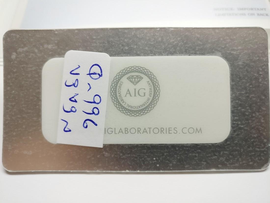 0.62 ct Cushion cut diamond Fancy Vivid Yellow I1 - 3