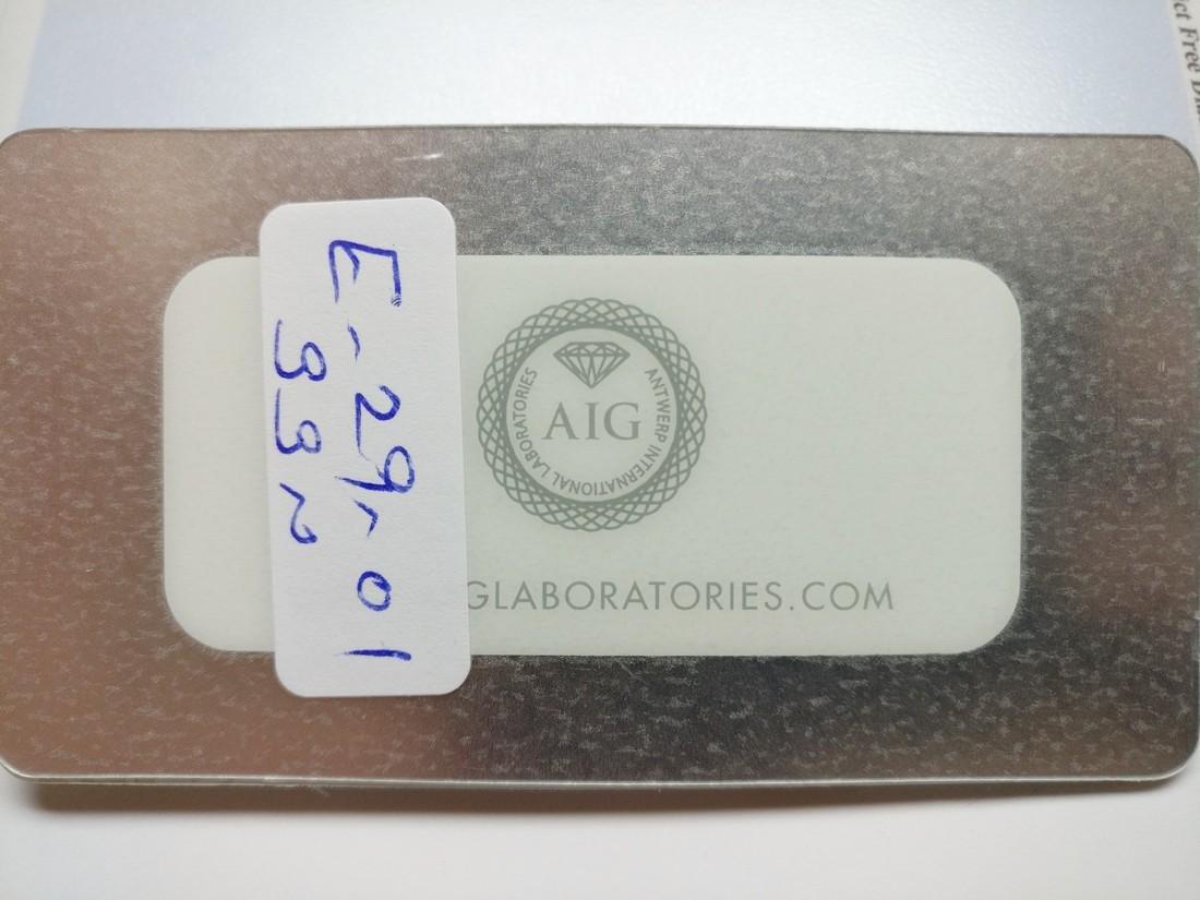 0.24 ct Heart cut diamond F.V.Br.Orangy Yellow VS2 - 3