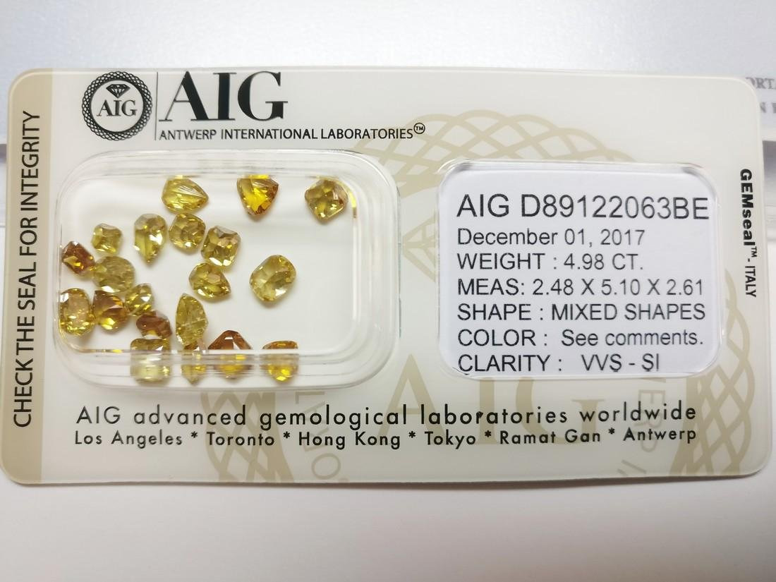 20 Mixed Shapes diamonds total 4.98 ct Mixed Fancy - 2