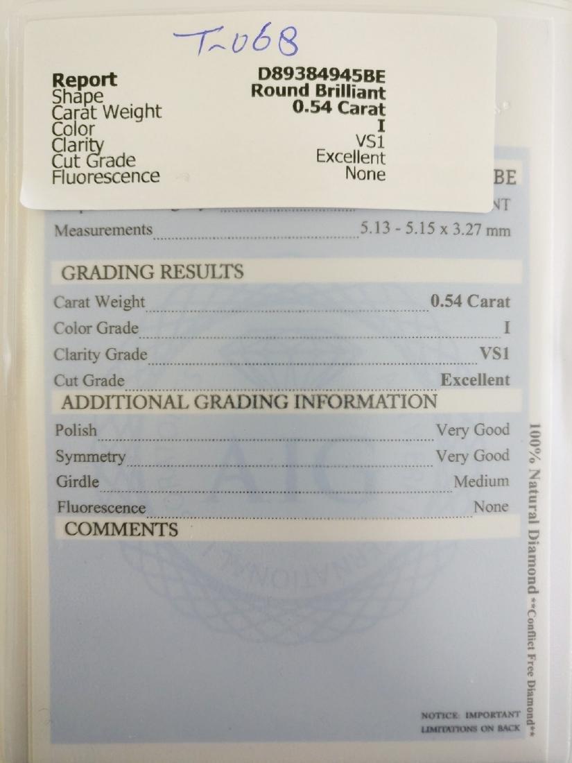 0.54 ct Round cut diamond I VS1 - 4