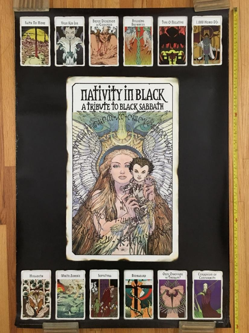 RARE Nativity In Black PROMO POSTER Tribute to Black