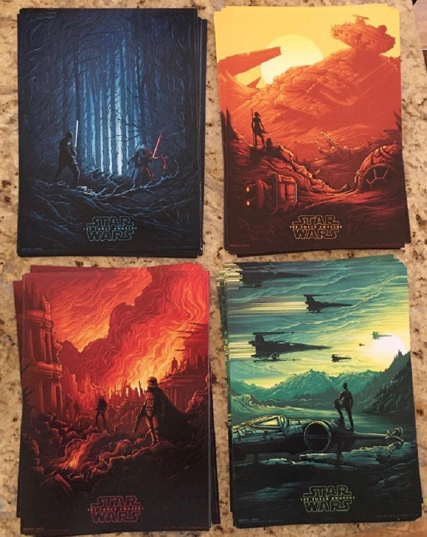 STAR WARS The Force Awakens Complete SET of 4 IMAX