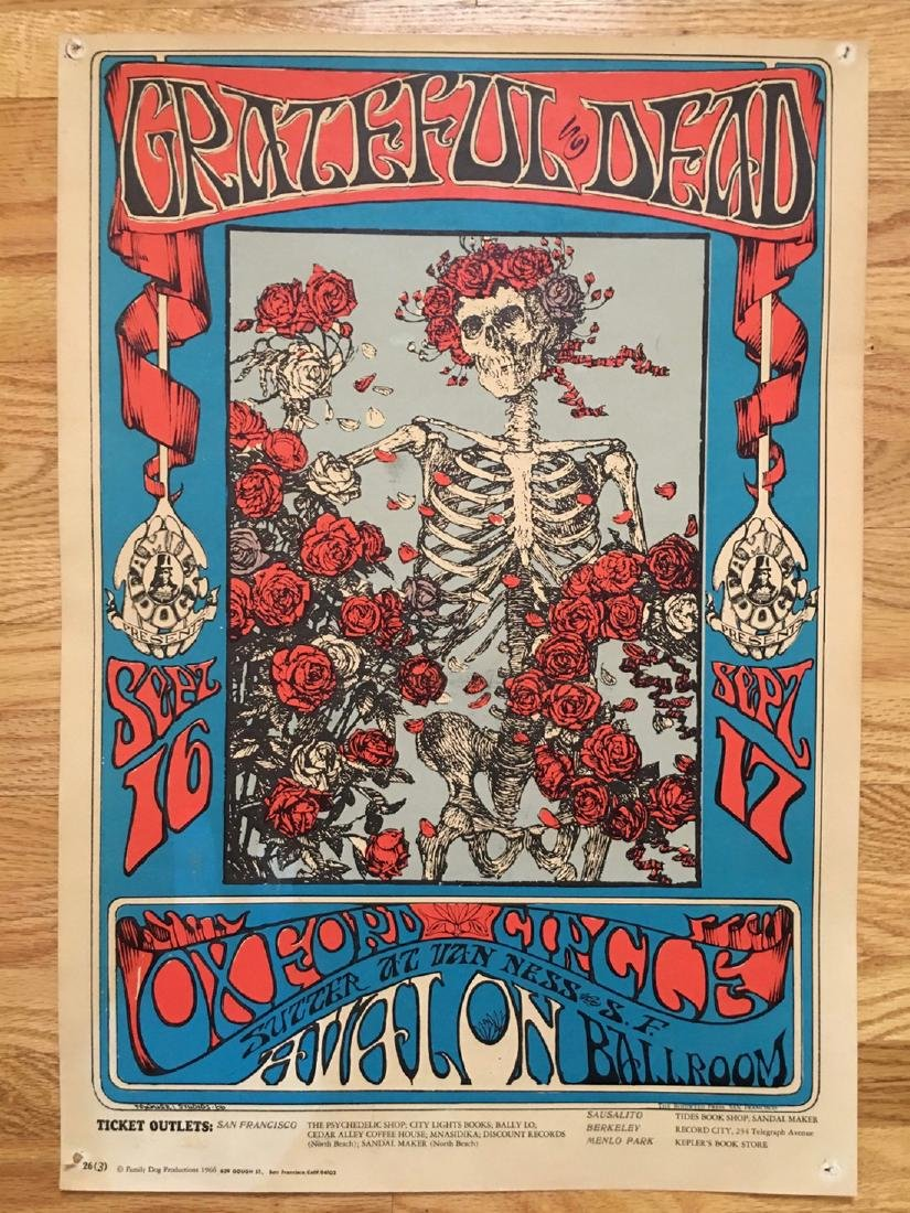 THE RAREST OF RARE POSTERS: FD26-3 SKULL and ROSES