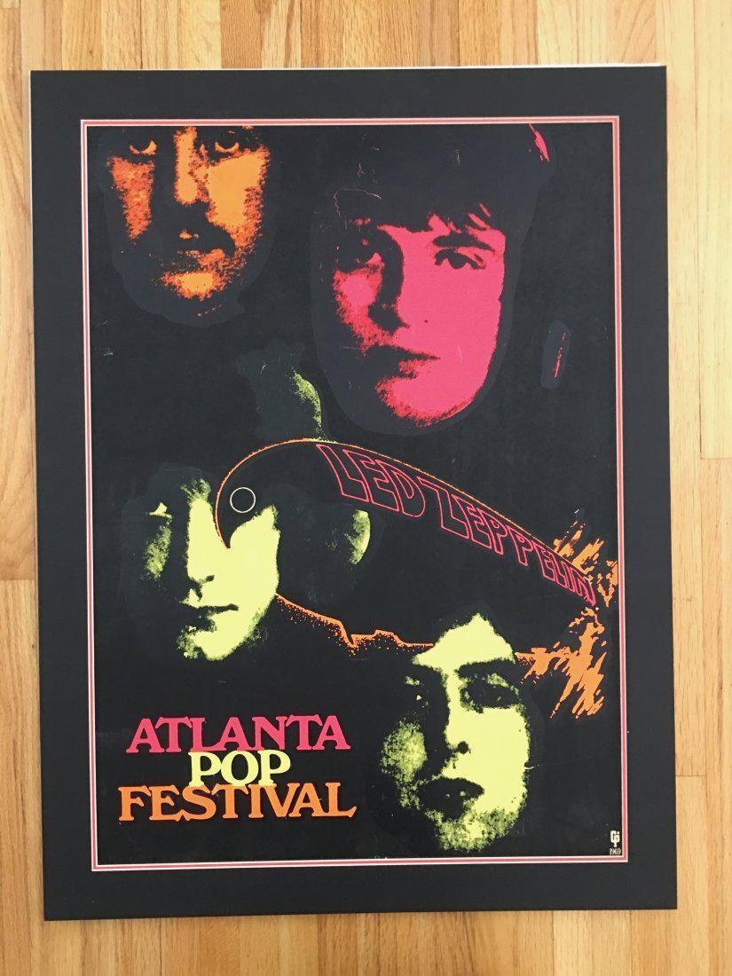 PAINFULLY RARE 1969 Led Zeppelin Atlanta Pop Poster