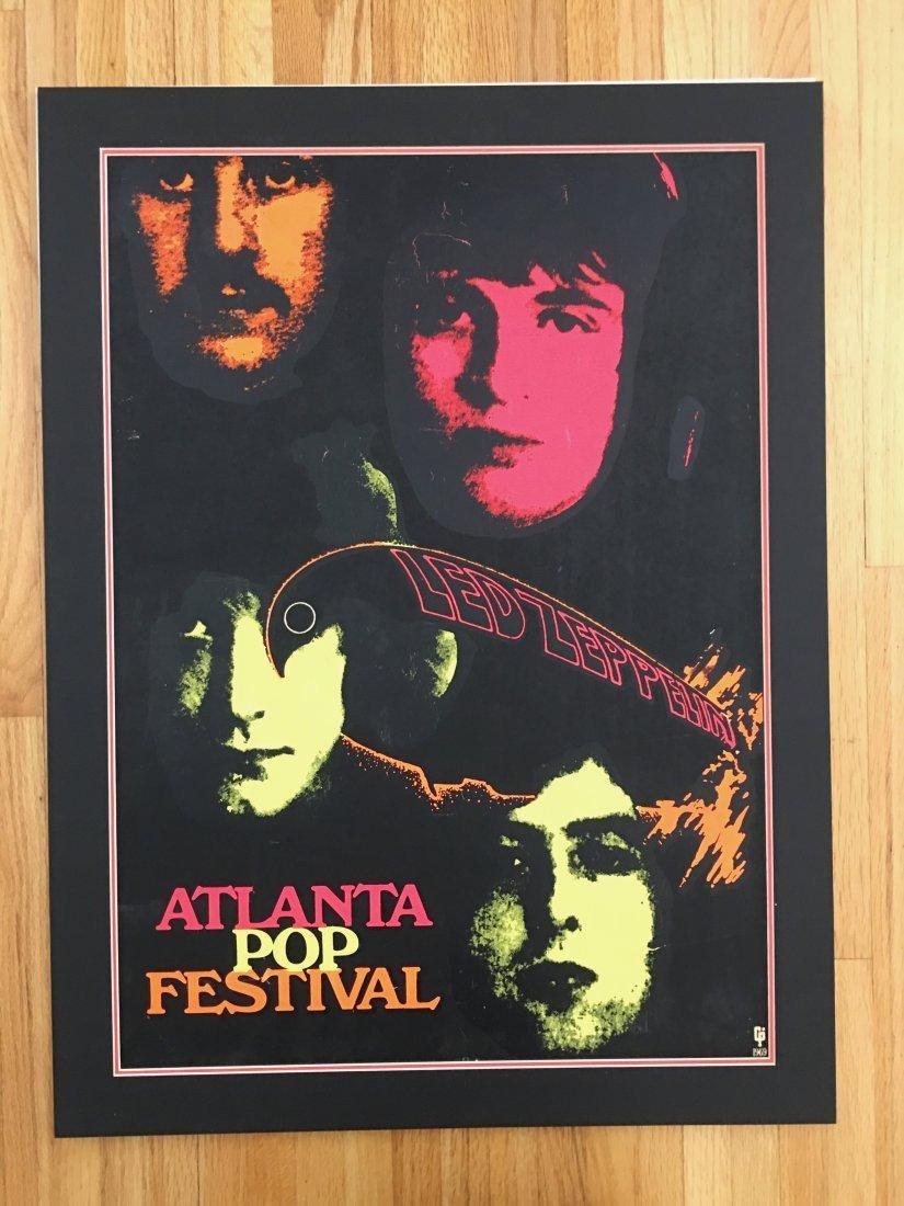 PAINFULLY RARE 1969 Led Zeppelin Atlanta Pop Poster