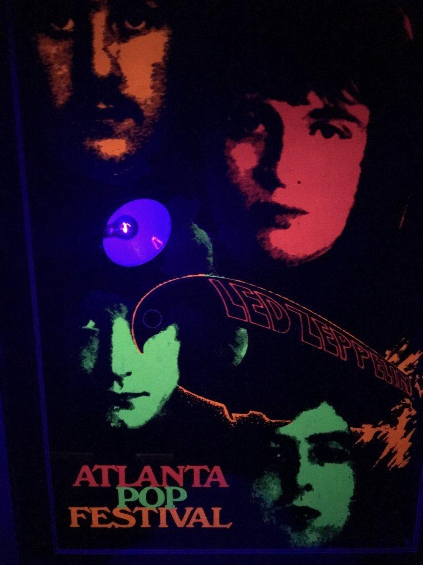 PAINFULLY RARE 1969 Led Zeppelin Atlanta Pop Poster - 7