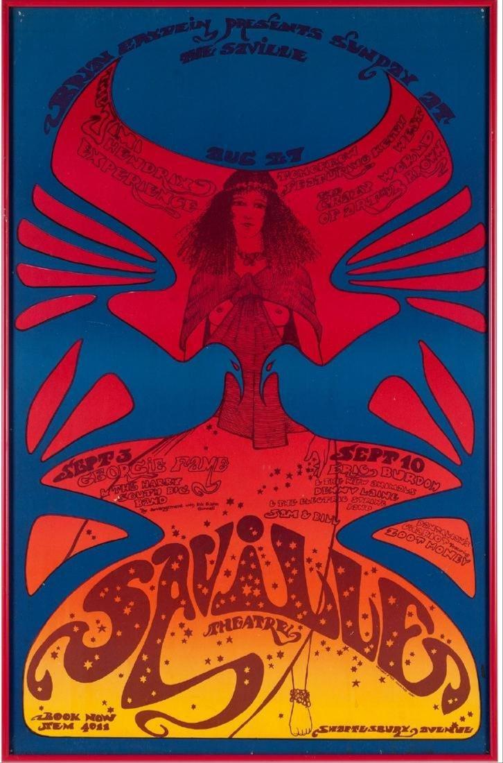 Jimi Hendrix Saville Theatre Concert Poster 1967