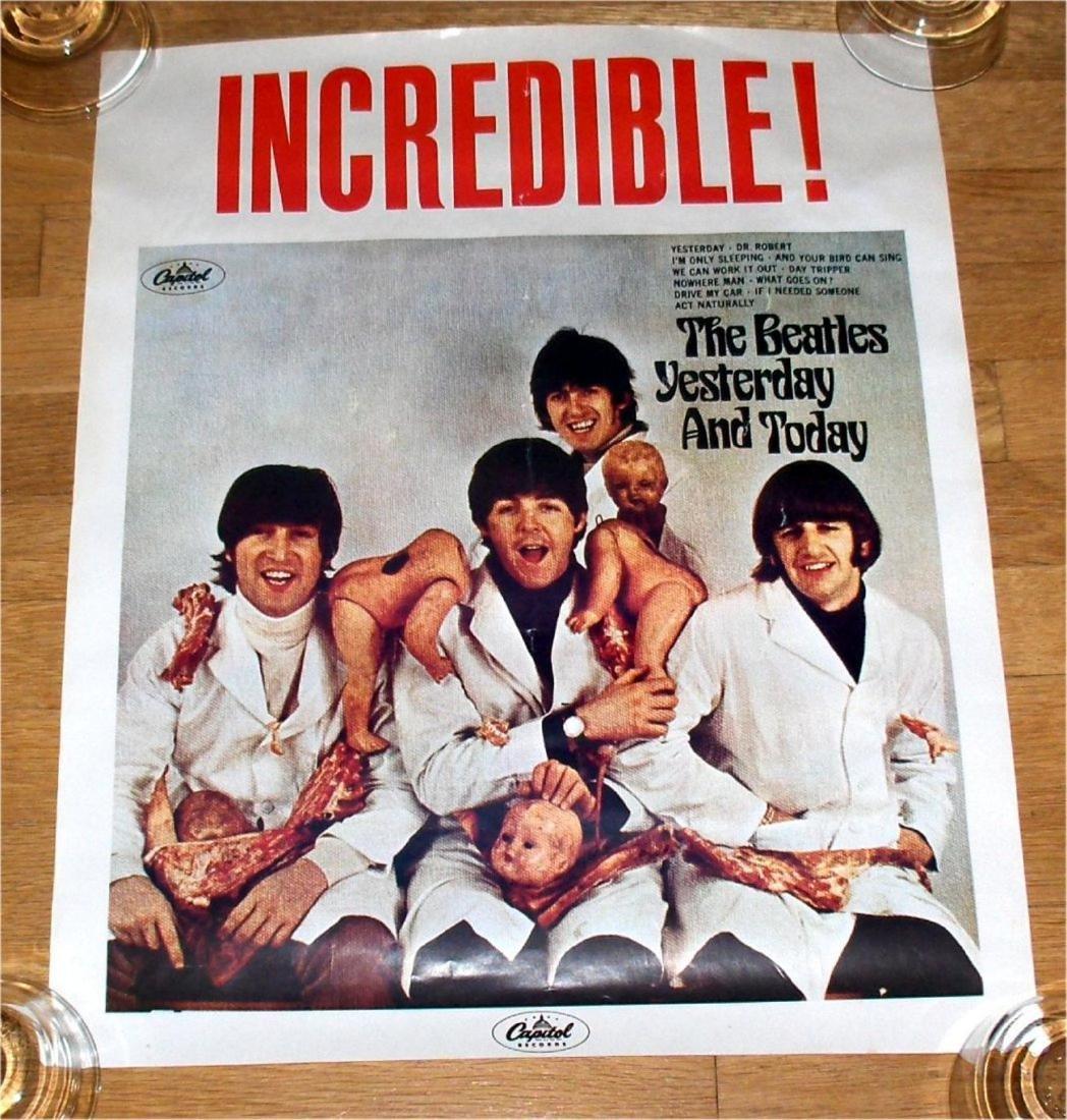 INCREDIBLE ! ! BEATLES BUTCHER ALBUM POSTER