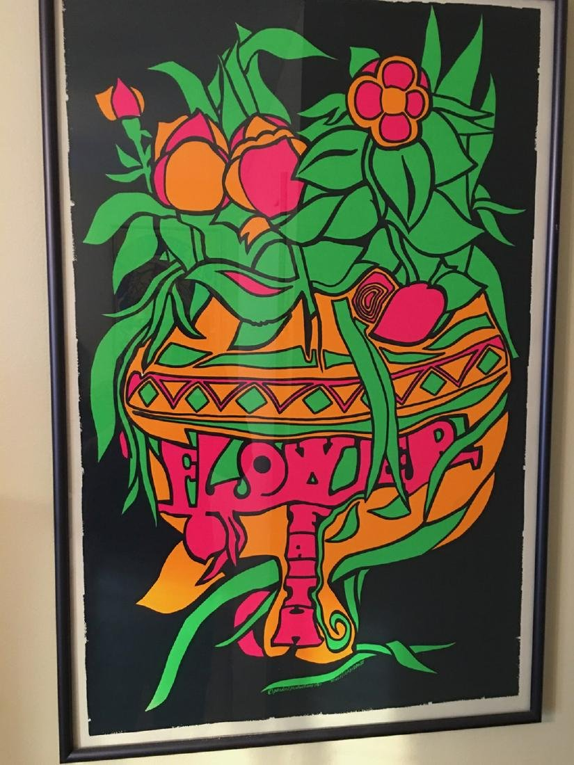 FLOWER FAITH - 1969 SILK SCREEN