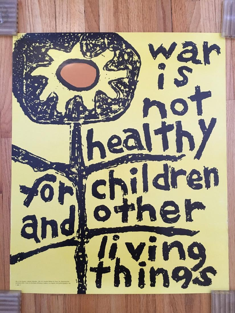 POLITICAL POSTER - WARE IS NOT HEALTHY...