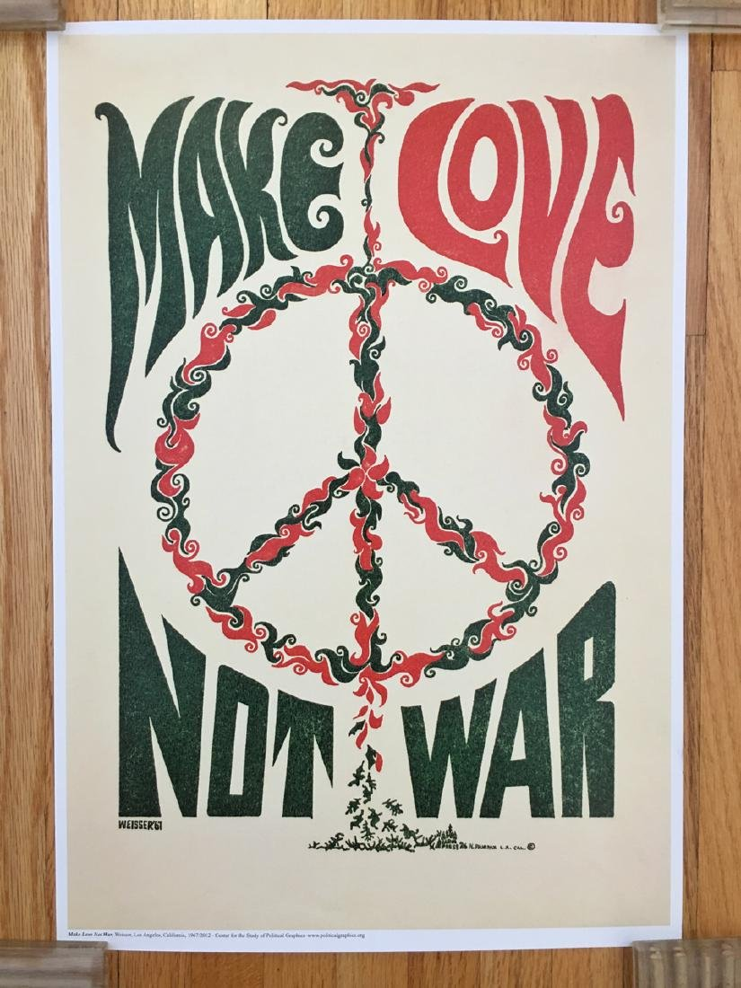 POLITICAL POSTER - MAKE LOVE NOT WAR