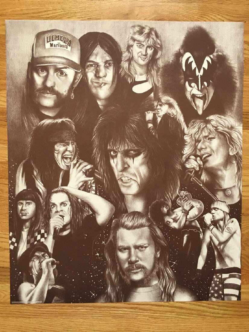 ROCK ICONS POSTER