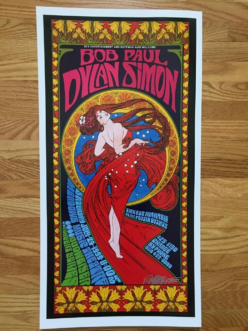 BOB MASSE - BOB DYLAN - PAUL SIMON - SIGNED