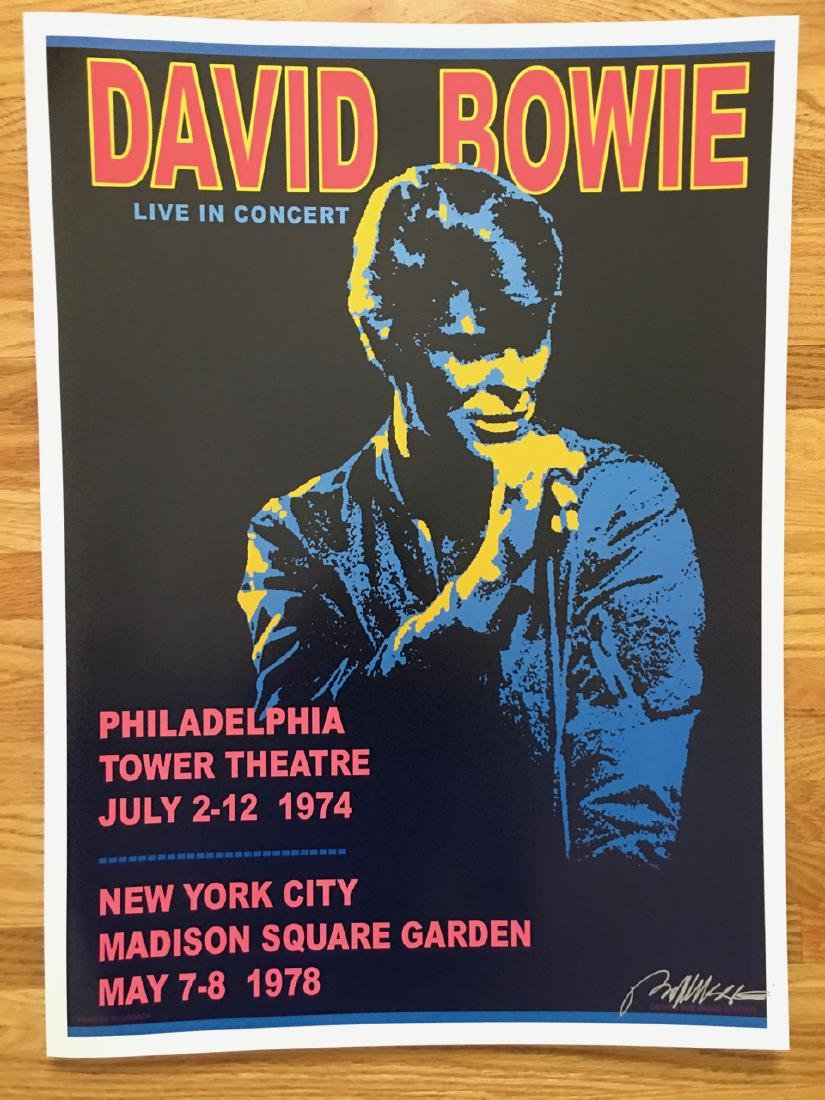 BOB MASSE - DAVID BOWIE - SIGNED