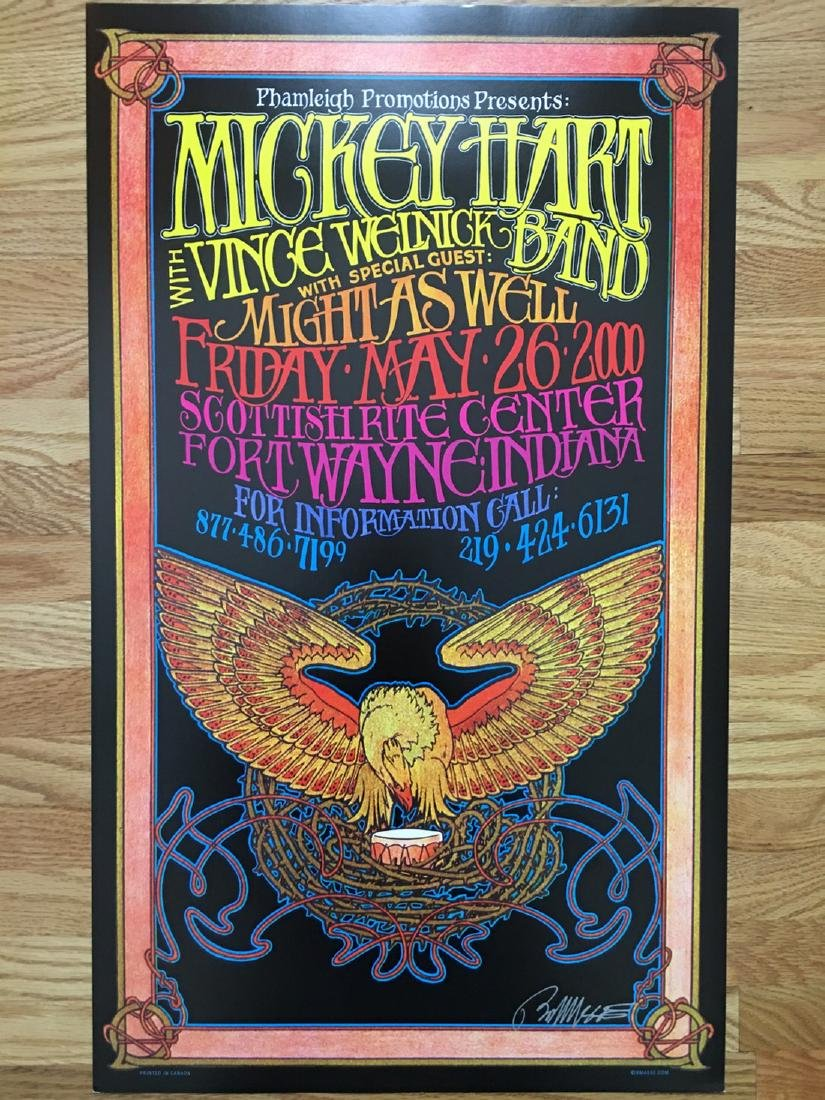 BOB MASSE - MICKEY HART - SIGNED