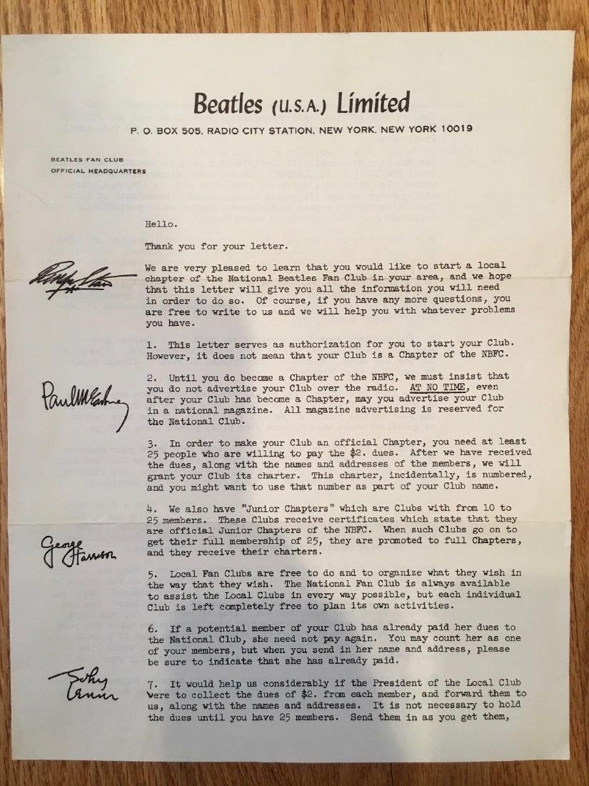 RARE - BEATLES ARE NOT BREAKING UP - LETTER & MORE - 4