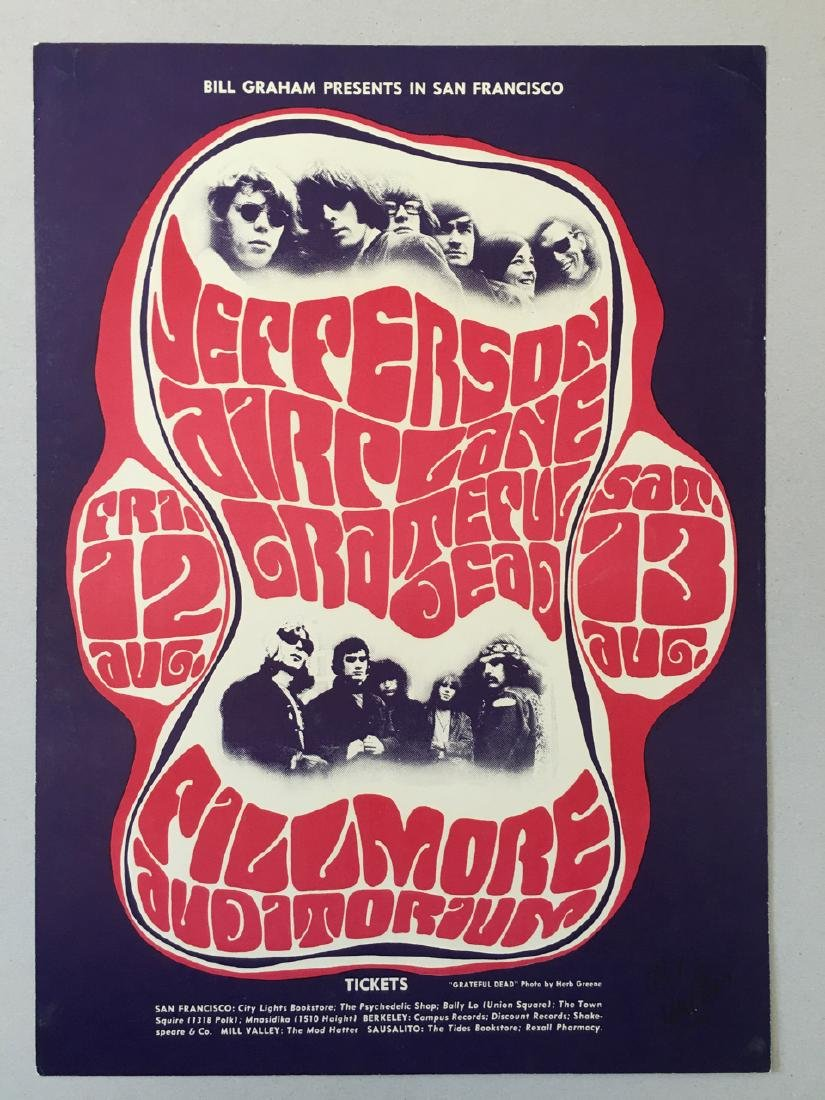FIRST PRINTING(b) Grateful Dead - Jefferson Airplane