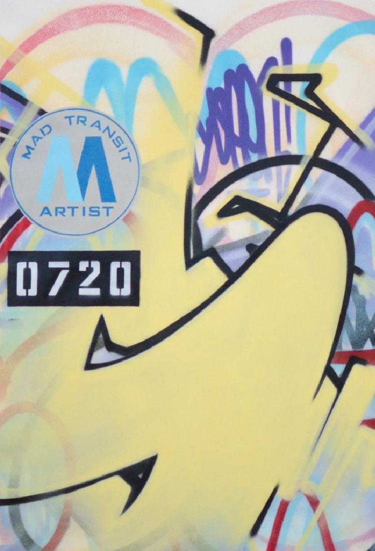 GRAFFITI ARTIST SEEN Mad Transit 16 Painting on Canvas