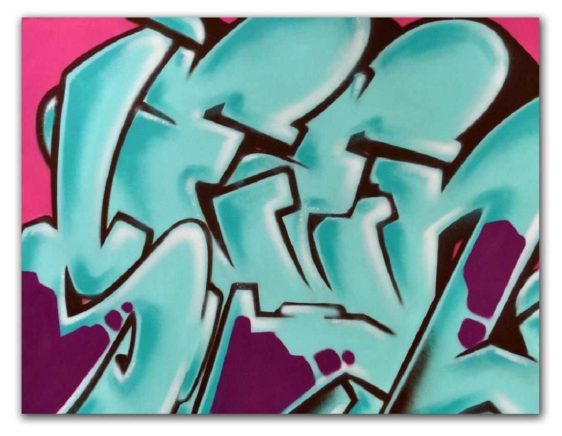 """GRAFFITI ARTIST SEEN - """"SEEN"""" Painting on Canvas"""