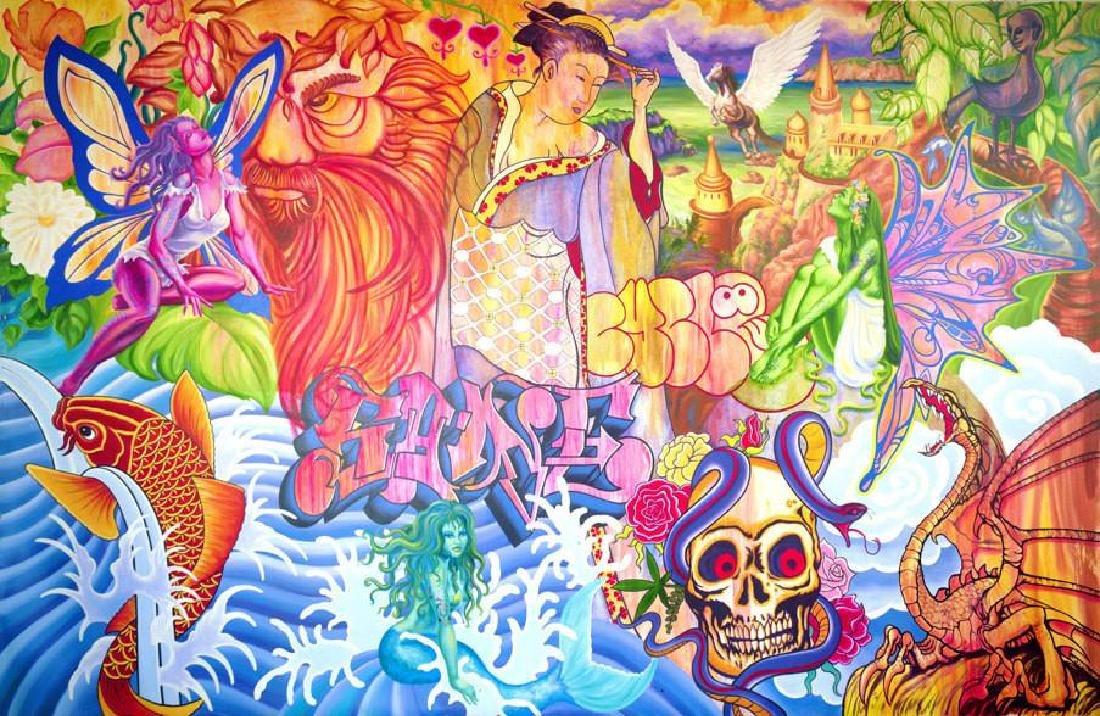 LADY PINK- Graffiti Lounge Print