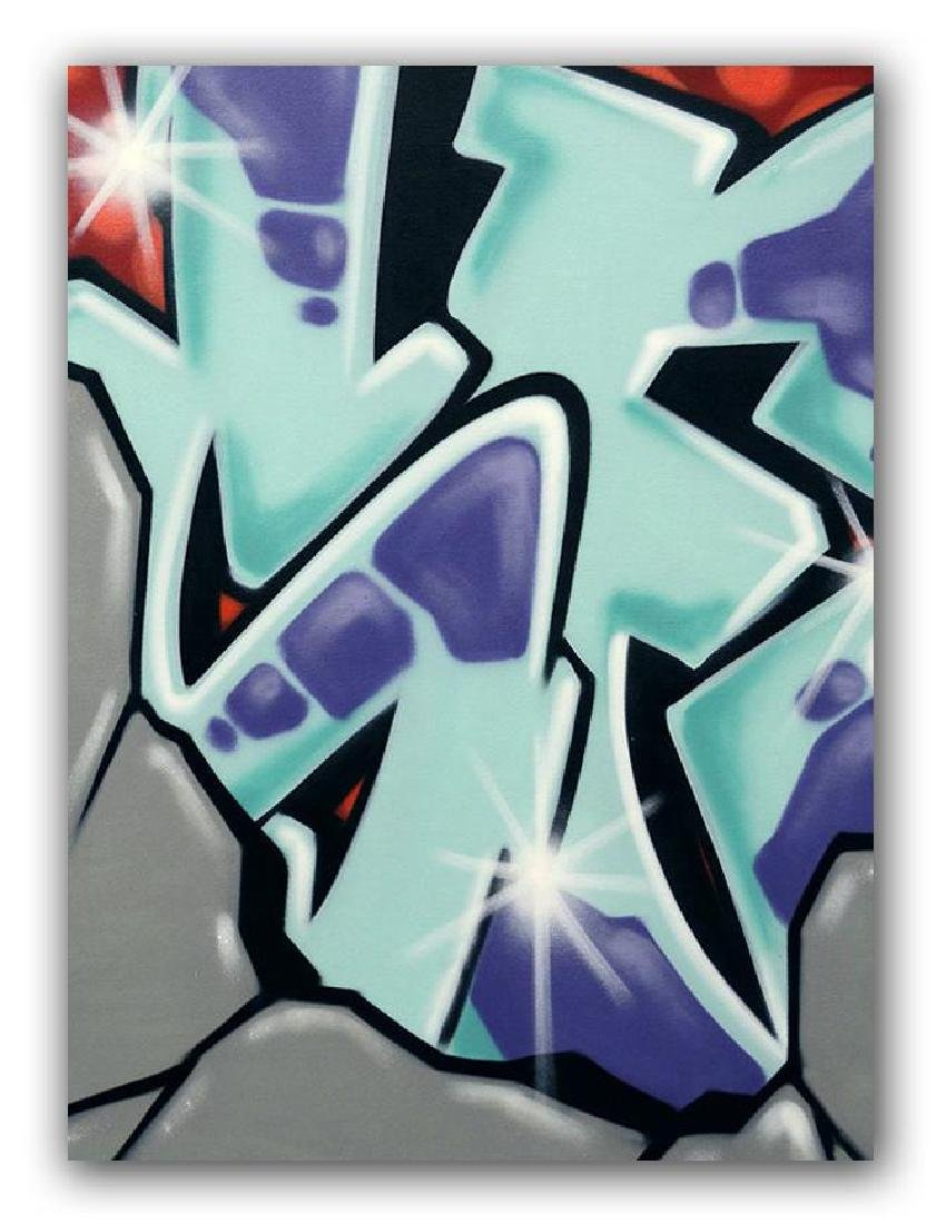 GRAFFITI ARTIST SEEN - Untitled 5- Rock Painting