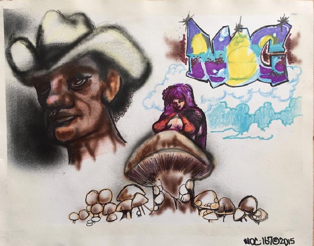 """NOC 167 -""""Mushroom"""" Drawing"""