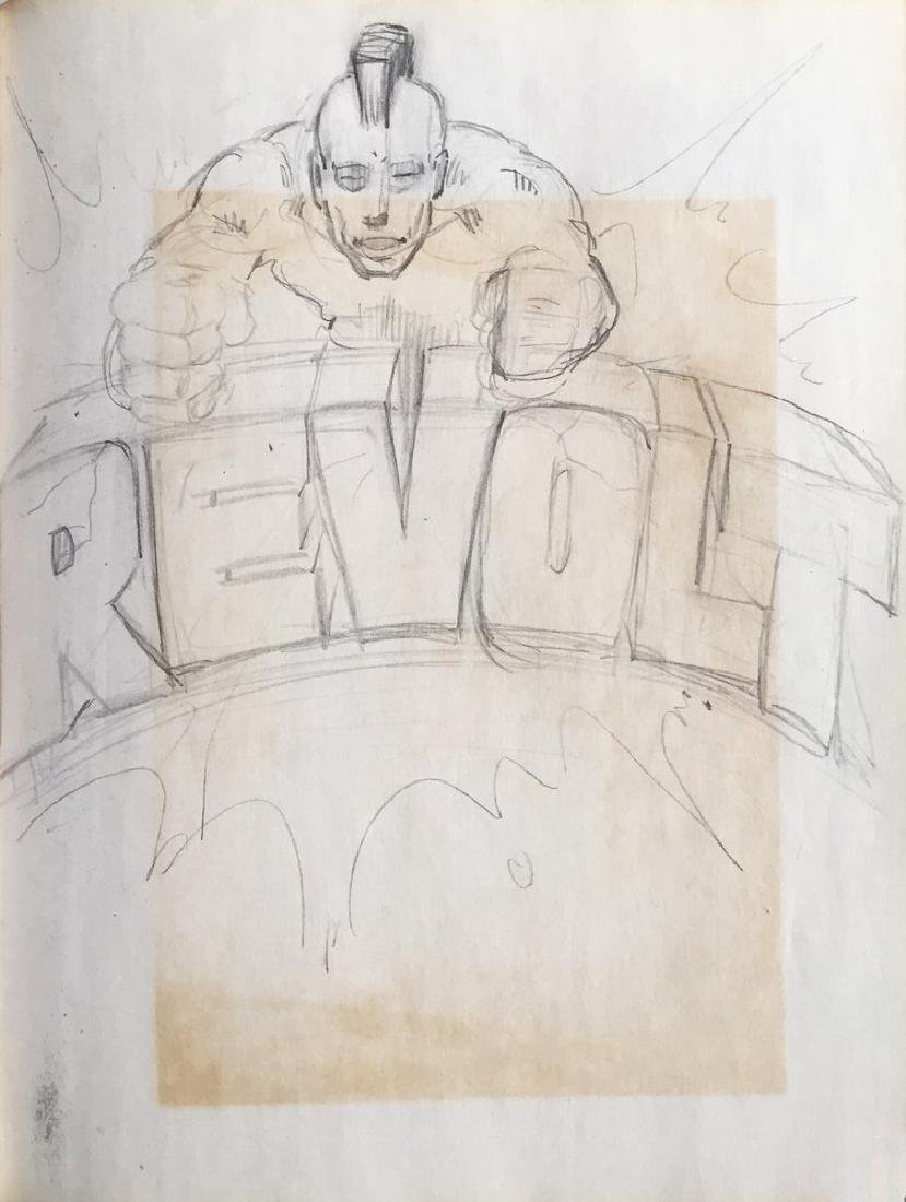 "REVOLT- ""Revolt"" Black Book Drawing 1984"
