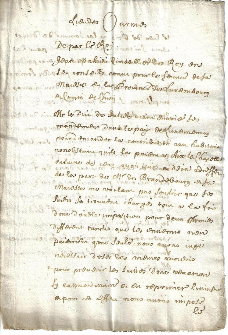 1692 French Manuscript of the King
