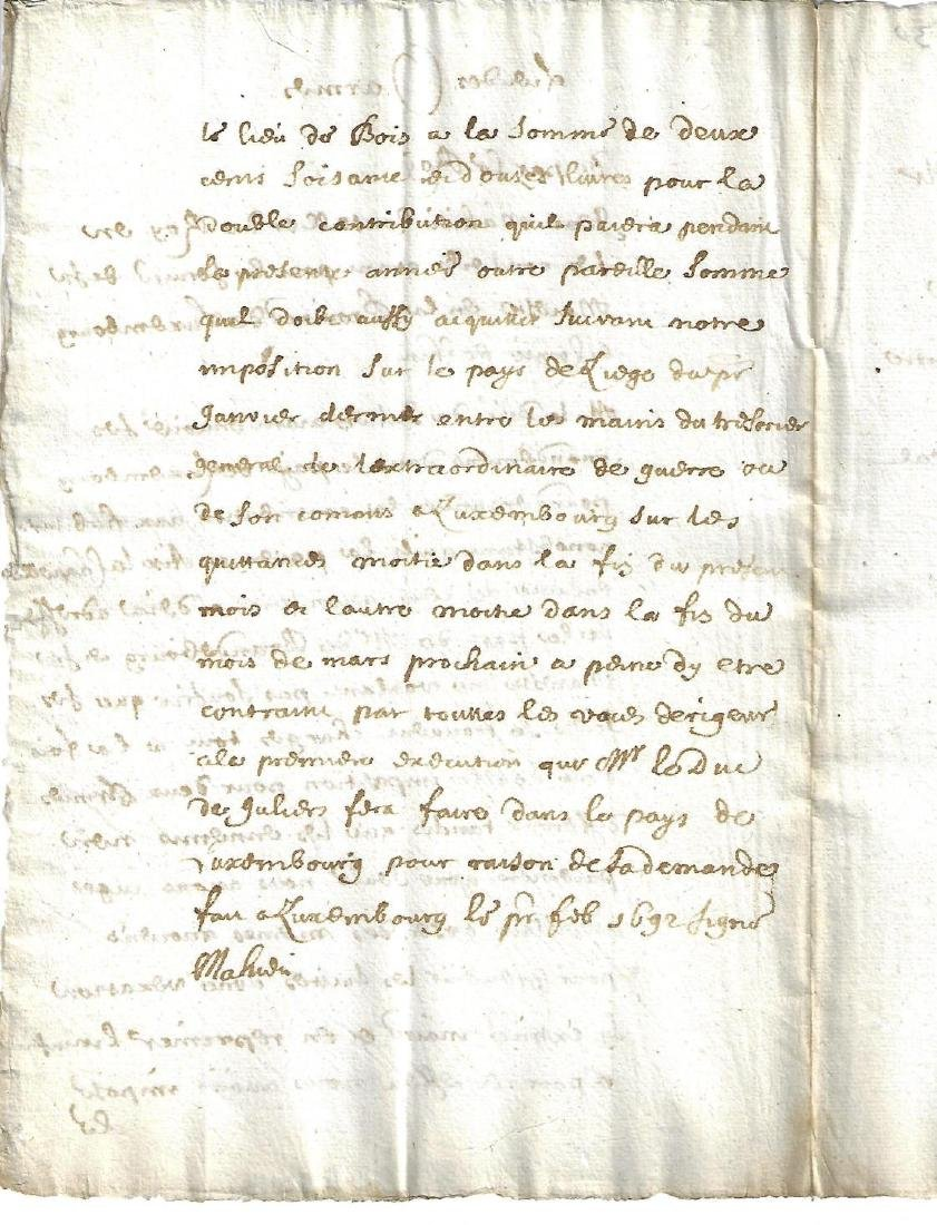 1692 French Manuscript of the King - 2